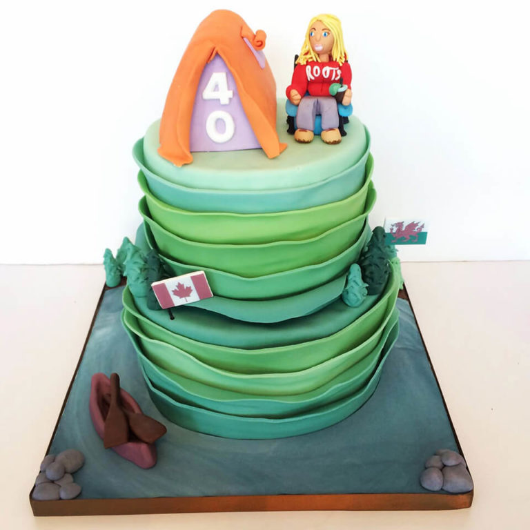 Camping Cake by Tripl3 Baked