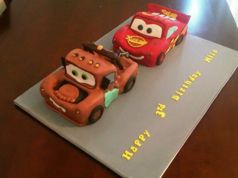 Cars Themed Sculpted Cakes by Tripl3 Baked
