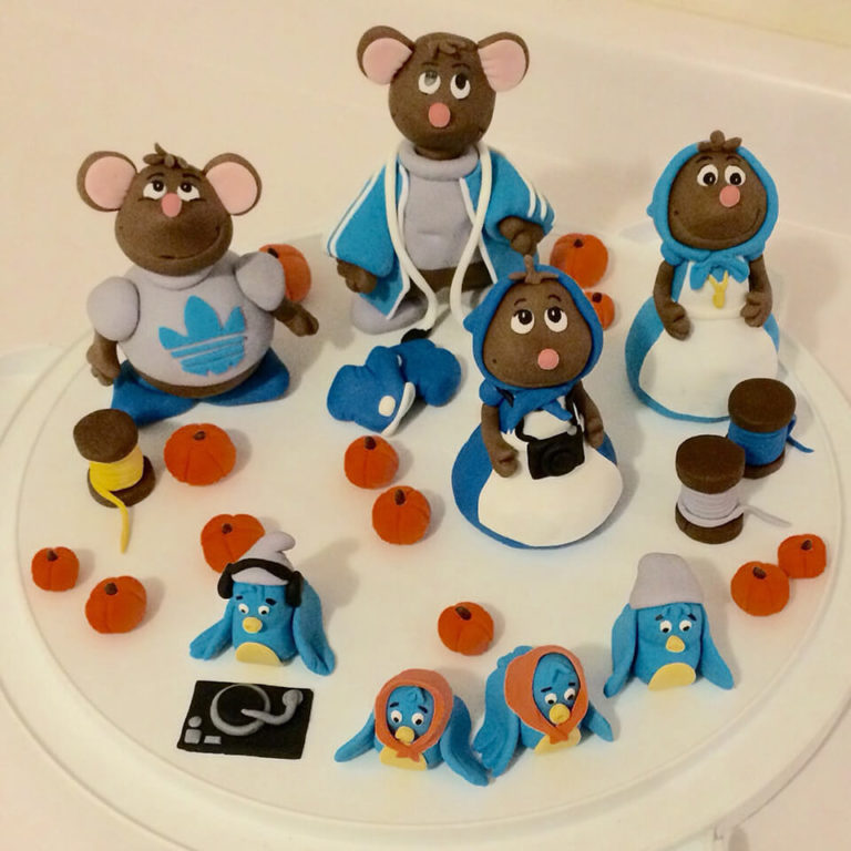 Cinderella Mouse Figurines by Tripl3 Baked