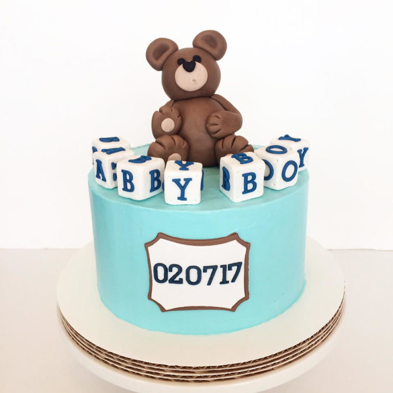Its' a Boy Teddy Bear Cake by Tripl3 Baked