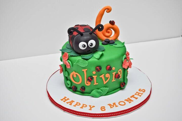 Lady Bug Cake by Tripl3 Baked