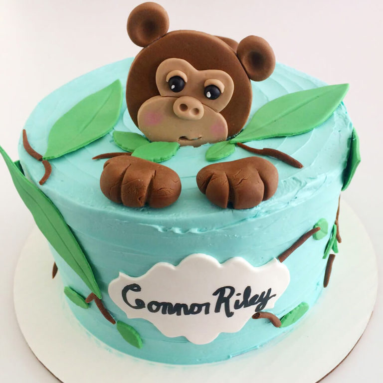 Monkey Face Topper Cake by Tripl3 Baked