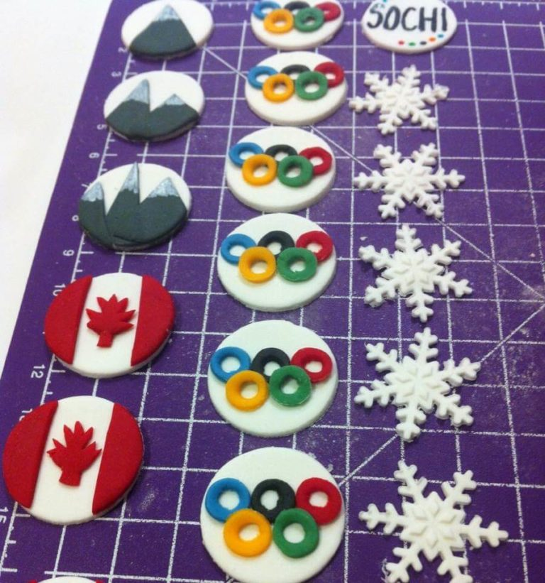 Olympic Cupcake Toppers by Tripl3 Baked