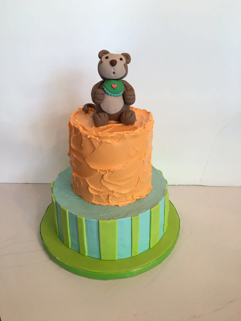 Teddy Bear Iced Cake by Tripl3 Baked